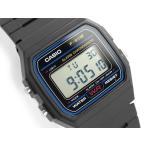 CASIO カシオ スタンダードモデル ユニセックス デジタル腕時計 ブルーダイアル ウレタンベルト F-91W-1