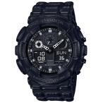 ショッピングShock G-SHOCK Gショック ジーショック レザーモチーフモデル カシオ CASIO アナデジ 腕時計 ブラック GA-100BT-1AJF 国内正規モデル