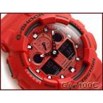 CASIO Gショック アナデジ腕時計 GA-100C-4ADR