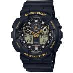 ショッピングShock G-SHOCK Gショック ジーショック カシオ CASIO アナデジ 腕時計 ブラック ゴールド GA-100GBX-1A9JF 国内正規モデル