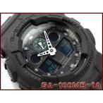ショッピングCASIO CASIO G-SHOCK カシオ Gショック ミリタリーブラック・シリーズ アナデジ腕時計 ブラック グリーン GA-100MB-1A