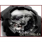 Gショック ジーショック G-SHOCK カシオ CASIO ミリタリーブラック・シリーズ 逆輸入海外モデル アナデジ 腕時計 マット オールブラック GA-110MB-1A