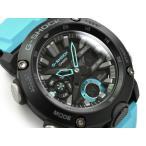 G-SHOCK Gショック ジーショック 逆輸入海外モデル カーボンコアガード カシオ  アナデジ 腕時計 ブラック スカイブルー GA-2000-1A2ER GA-2000-1A2の画像