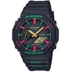 G-SHOCK 限定 Throwback 1990s CASIO アナデジ 腕時計 ブラック グリーン レッド GA-2100TH-1ADR カーボンコアガード 逆輸入 海外モデル