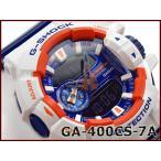 ショッピングcolors G-SHOCK Gショック ジーショック カシオ CASIO Crazy Colors クレイジーカラーズ アナデジ 腕時計 ホワイト ネイビー GA-400CS-7ACR GA-400CS-7A