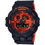 ショッピングShock G-SHOCK Gショック ジーショック BRIGHT ORANGE COLOR カシオ CASIO アナデジ 腕時計 ブラック オレンジ GA-700BR-1AJF 国内正規モデル