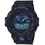 ショッピングShock G-SHOCK Gショック ジーショック カシオ CASIO アナデジ 腕時計 ブラック ブルー GA-710B-1A2JF 国内正規モデル