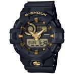 ショッピングShock G-SHOCK Gショック ジーショック カシオ CASIO アナデジ 腕時計 ブラック ゴールド GA-710B-1A9JF  国内正規モデル