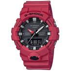 ショッピングShock G-SHOCK Gショック ジーショック カシオ CASIO アナデジ 腕時計 ブラック レッド GA-800-4AJF 国内正規モデル