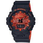 ショッピングShock G-SHOCK Gショック ジーショック BRIGHT ORANGE COLOR カシオ CASIO アナデジ 腕時計 ブラック オレンジ GA-800BR-1AJF 国内正規モデル