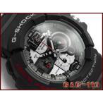 ショッピングShock G-SHOCK ジーショック Gショック g-shock gショック アナログ 腕時計 ブラック×シルバー GAC-110-1ADR G-SHOCK Gショック