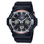 ショッピングShock G-SHOCK Gショック ジーショック 電波ソーラー カシオ CASIO アナデジ 腕時計 ブラック GAW-100-1AJF 国内正規モデル