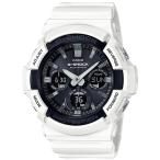 ショッピングShock G-SHOCK Gショック ジーショック カシオ CASIO 電波ソーラー アナデジ 腕時計 ホワイト ブラック GAW-100B-7AJF 国内正規モデル