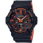ショッピングShock G-SHOCK Gショック ジーショック BRIGHT ORANGE COLOR カシオ CASIO 電波 ソーラー アナデジ 腕時計 オレンジ GAW-100BR-1AJF 国内正規モデル