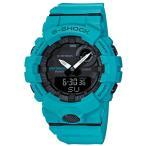 ショッピングShock G-SHOCK Gショック ジーショック ジースクワッド カシオ CASIO アナデジ 腕時計 モバイルリンク ターコイズブルー ブラック GBA-800-2A2JF  国内正規モデル