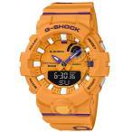 ショッピングShock G-SHOCK Gショック ジーショック G-SQUAD Bluetooth モバイルリンク機能 カシオ アナデジ 腕時計 オレンジ パープル ホワイト GBA-800DG-9AJF 国内正規モデル
