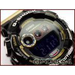 ショッピングcolors G-SHOCK Gショック ジーショック カシオ CASIO Crazy Colors クレイジーカラーズ デジタル 腕時計 ブラック ゴールド GD-120CS-1CR GD-120CS-1