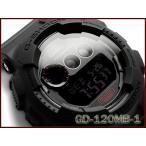 Gショック ジーショック G-SHOCK カシオ CASIO 海外モデル デジタル 腕時計 マット オールブラック GD-120MB-1