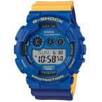 ショッピングShock G-SHOCK Gショック ジーショック ノーコンプライ MAROK マーロック カシオ CASIO デジタル 腕時計 ブルー イエロー GD-120NC-2JF 国内正規モデル