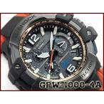 G-SHOCK Gショック ジーショック 逆輸入海外モデル スカイコックピット 限定 GPS CASIO カシオ 電波時計 ソーラー メンズ腕時計 ブラック オレンジ GPW-1000-4A