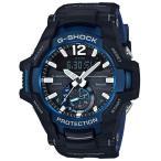 ショッピングShock G-SHOCK Gショック ジーショック グラビティマスター カシオ CASIO アナデジ 腕時計 ソーラー モバイルリンク ブラック ブルー GR-B100-1A2JF 国内正規モデル