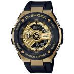 ショッピングShock G-SHOCK Gショック ジーショック G-STEEL Gスチール カシオ CASIO アナデジ 腕時計 ブラック ゴールド GST-400G-1A9JF 国内正規モデル