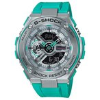 ショッピングShock G-SHOCK Gショック ジーショック G-STEEL Gスチール カシオ CASIO アナデジ メンズ 腕時計 シルバー ダークターコイズ GST-410-2AJF 国内正規モデル