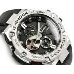 G-SHOCK Gショック ジーショック G-STEEL Gスチール Bluetooth モバイルリンク機能 逆輸入モデル カシオ CASIO アナログ 腕時計 ソーラー ブラック シルバ- GST-B100-1AER GST-B100-1A