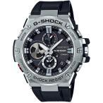 ショッピングShock G-SHOCK Gショック G-STEEL Gスチール Bluetooth カシオ CASIO ソーラー メンズ 腕時計 ブラック シルバー GST-B100-1AJF 国内正規モデル