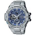 ショッピングShock G-SHOCK Gショック G-STEEL Gスチール モバイルリンク機能 カシオ ソーラー 腕時計 シルバー ブルー GST-B100D-2AJF 国内正規モデル