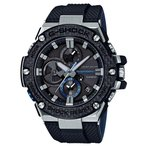 ショッピングShock G-SHOCK Gショック Gスチール Bluetooth カシオ CASIO ソーラー アナログ メンズ 腕時計 ブラック ブルー GST-B100XA-1AJF 国内正規モデル