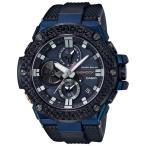 ショッピングShock G-SHOCK Gショック G-STEEL Gスチール モバイルリンク機能 カシオ ソーラー 腕時計 ブラック ブルー GST-B100XB-2AJF 国内正規モデル