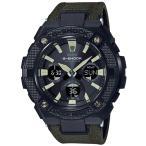 ショッピングShock G-SHOCK Gショック ジーショック G-STEEL Gスチール カシオ CASIO アナデジ 腕時計 電波 ソーラー  ブラック カーキ GST-W130BC-1A3JF  国内正規モデル