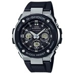ショッピングShock G-SHOCK Gショック ジーショック G-STEEL Gスチール カシオ CASIO 電波ソーラー アナデジ 腕時計 ブラック シルバー GST-W300-1AJF 国内正規モデル