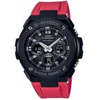 ショッピングShock G-SHOCK Gショック ジーショック G-STEEL Gスチール カシオ CASIO 電波 ソーラー メンズ 腕時計 ブラック レッド GST-W300G-1A4JF 国内正規モデル