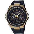 ショッピングShock G-SHOCK Gショック ジーショック G-STEEL Gスチール カシオ CASIO 電波ソーラー アナデジ 腕時計 ブラック ゴールド GST-W300G-1A9JF 国内正規モデル