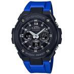 ショッピングShock G-SHOCK Gショック ジーショック G-STEEL Gスチール カシオ CASIO 電波 ソーラー アナデジ メンズ 腕時計 ブラック ブルー GST-W300G-2A1JF 国内正規モデル