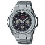ショッピングShock G-SHOCK Gショック ジーショック G-STEEL Gスチール カシオ CASIO 電波ソーラー アナデジ 腕時計 シルバー ブラック GST-W310D-1AJF 国内正規モデル