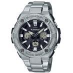ショッピングShock G-SHOCK Gショック ジーショック G-STEEL Gスチール カシオ CASIO アナデジ 腕時計 電波 ソーラー ブラック シルバー GST-W330D-1AJF 国内正規モデル