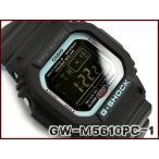 ショッピングGW G-SHOCK Gショック ジーショック ネオンアクセントカラー 逆輸入海外モデル カシオ CASIO 電波ソーラー デジタル 腕時計 ブルー ブラック GW-M5610PC-1