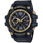 ショッピングShock G-SHOCK Gショック ジーショック マスターオブG マッドマスター カシオ 電波 ソーラー アナデジ 腕時計 ブラック ゴールド GWG-100GB-1AJF 国内正規モデル