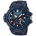 ショッピングShock G-SHOCK Gショック ジーショック マスターオブG ガルフマスター カシオ 電波 ソーラー アナデジ 腕時計 ブルー GWN-Q1000A-2AJF 国内正規モデル