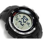 プロトレック PRO TREK  トリプルセンサー搭載 電波ソーラー デジタル腕時計 ブラック PRW-3000-1DR