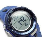 CASIO PRO TREK PROTREK カシオ プロトレック 海外モデル トリプルセンサー搭載 電波ソーラー デジタル 腕時計 ブルー PRW-3000-2B
