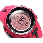 CASIO PRO TREK PROTREK カシオ プロトレック 海外モデル トリプルセンサー搭載 電波ソーラー デジタル 腕時計 ピンク PRW-3000-4B