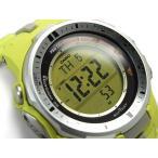 CASIO PRO TREK PROTREK カシオ プロトレック 逆輸入海外モデル トリプルセンサー搭載 電波ソーラー デジタル 腕時計 イエロー PRW-3000-9B