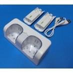 ショッピングWii Wii ダブルリモコンチャージスタンド(電池パック2個付属)