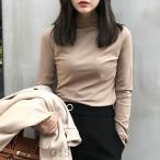 ショッピングタートルネック タートルネックレディースインナー長袖秋冬春おしゃれ可愛いかわいいシンプル無地大人カジュアルハイネックトップスtシャツロンT黒白