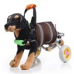 [NABESHI] 小型犬用車椅子 2輪歩行器 犬 犬用 ペット 歩行器 小型犬用 車椅子 補助輪 後足用 歩行補助 (灰色)
