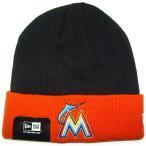 NEW ERA (ニューエラ) MLB ベーシック ニットキャップ (マイアミ・マーリンズ)